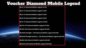 Jual Voucher Diamond Mobile Legends Termurah